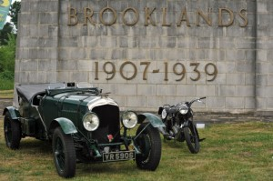 Brooklands 1907 -1939 Sign with Car and Motorcycle