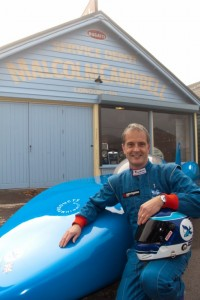 Don Wales at Brooklands Museum, Surrey Collecting Bluebird for a new Land Speed Record in 2011 - 16th November 2010